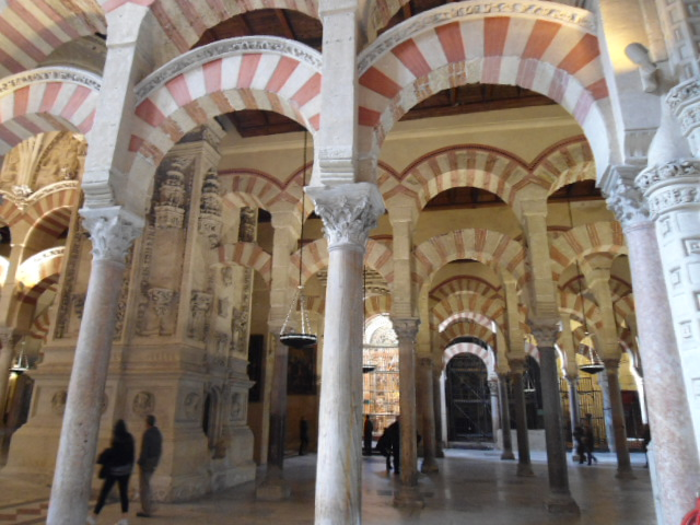 The interior columns of the Mezquita in Cordoba, Spain. © ww.travel-snapshots.com